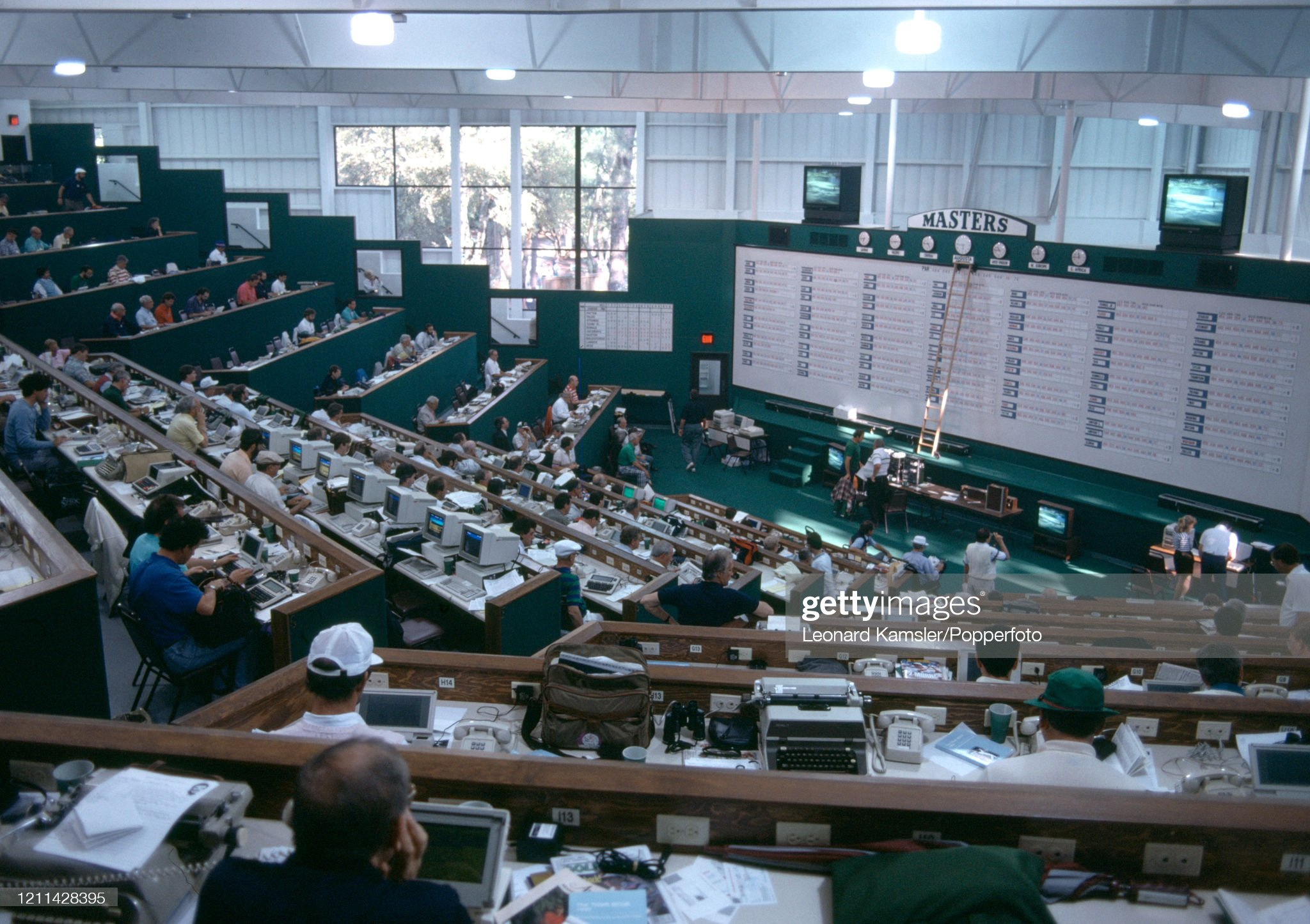 The New Media Centre During The US Masters Golf Tournament : Photo d'actualité