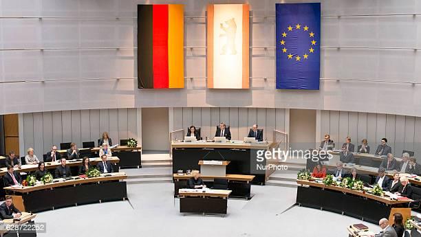 The new members of Berlin's Senate Interior Senator Andreas Geisel , Health Senator Dilek Kolat , Culture and Europe Senator Klaus Lederer , Economy...