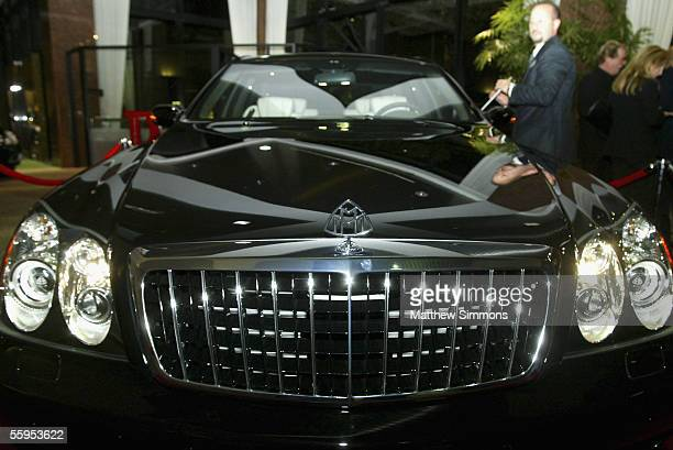 The new Mercedes Benz Maybach 57S is unveiled at Mercedes Benz of Beverly Hills on October 18 2005 in Beverly Hills California The 605 HP V12...