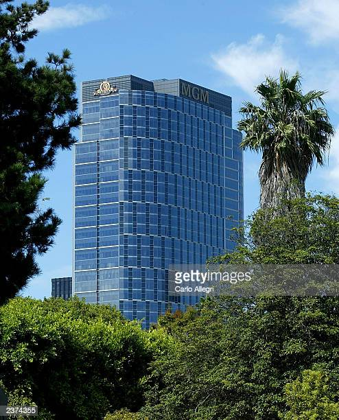 The new MGM Tower stands in Century City August 6 2003 in Los Angeles California MGM Tower is home to the new corporate headquarters of...