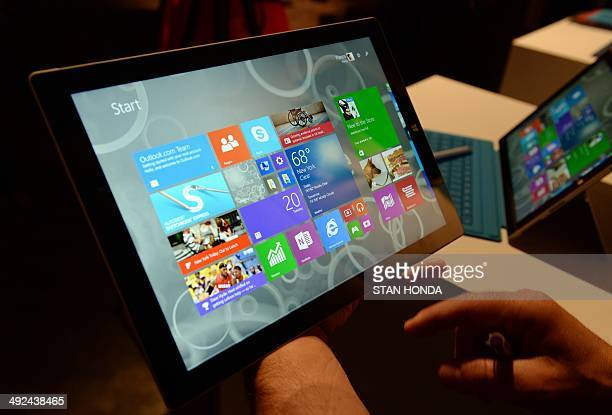 The new Microsoft Surface Pro 3 tablet after it was unveiled May 19 2014 in New York Microsoft unveiled the Surface Pro 3 tablet at an event in New...