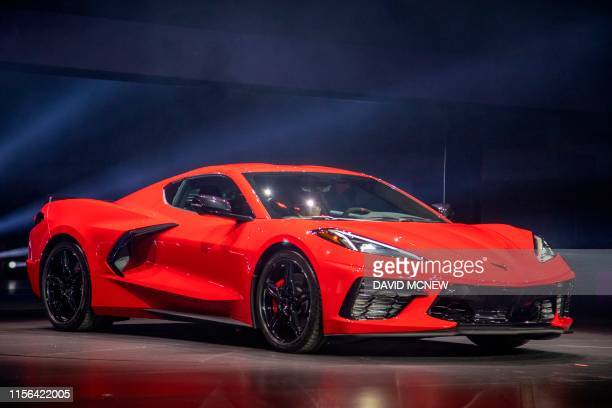 The new midengine 2020 Corvette Stingray is seen at the Next Generation Corvette Reveal event in Irvine California on July 18 2019