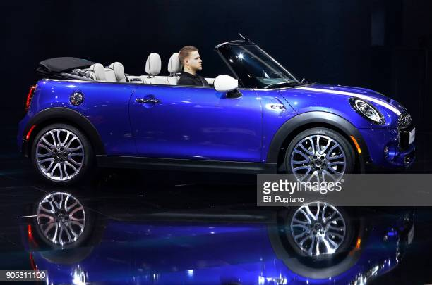 The New MINI Convertible is shown at the 2018 North American International Auto Show January 15 2018 in Detroit Michigan More than 5100 journalists...