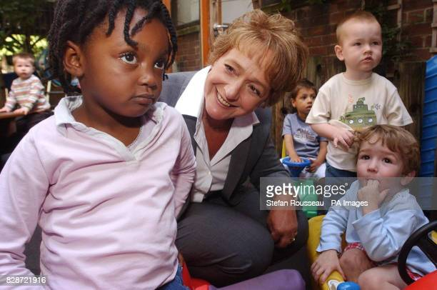 The new Minister for Children Margaret Hodge meets children at BromleybyBow children's centre in east London * The centre in is the first of 33...