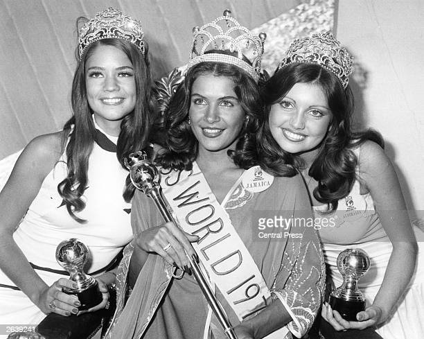 The new Miss World Cindy Breakspeare of Jamaica a health club manager from Kingston smiles after being crowned the previous night at the Albert Hall...