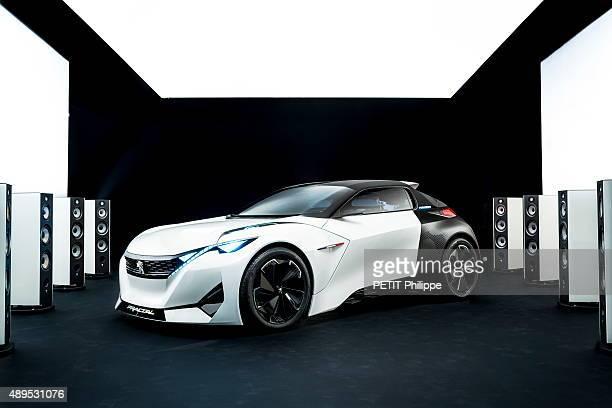 The new model Peugeot Fractal car on august 25 2015 in France