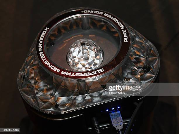 The new Monster SuperStar RaveBox Blaster wireless Bluetooth boom box is displayed during a press event for CES 2017 at the Mandalay Bay Convention...