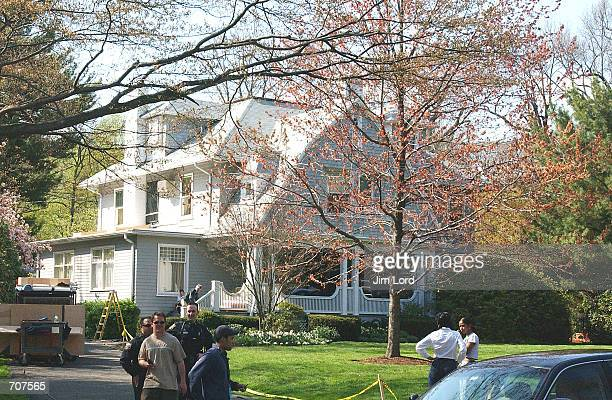 """The new movie """"Analyze That"""", which co-stars Billy Crystal and Robert DeNiro, is currently filming at this private home April 15, 2002 in Montclair,..."""