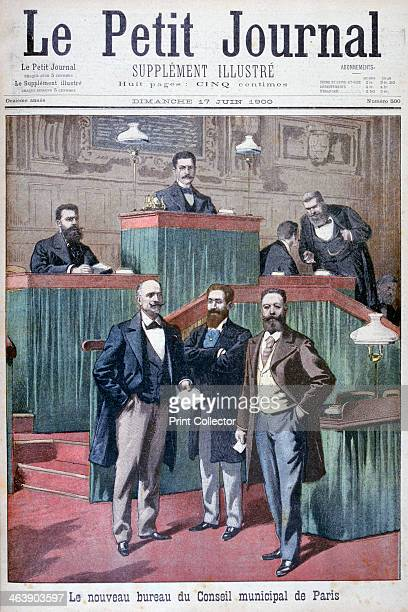 The new municipal council of Paris 1900 An illustration from Le Petit Journal 17th June 1900
