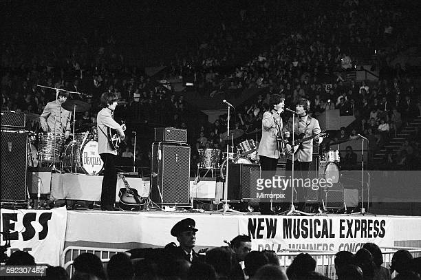 The New Musical Express Poll Winners Concert at Empire Pool Wembley The Beatles left to right Ringo Starr George Harrison Paul McCartney and John...