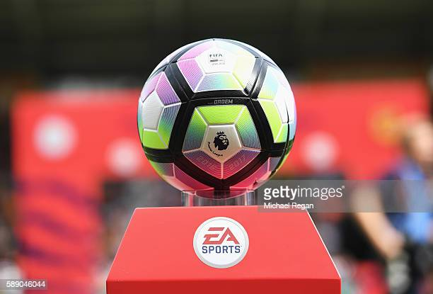 The new Nike Preimer League match ball during the Premier League match between Hull City and Leicester City at KCOM Stadium on August 13 2016 in Hull...