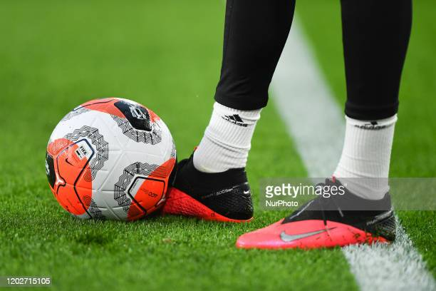 The new Nike Premier League quotTunnel Visionquot Merlin ball makes it's Premier League debut at King Power during the Premier League match between...