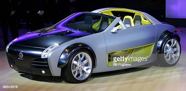 The new Nissan URGE Concept vehicle is introduced to the media January 9, 2006 at the 2006 North American International Auto Show in Detroit,...