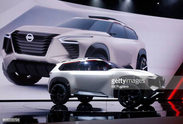 The new Nissan Xmotion crossover concept vehicle makes its debut at the 2018 North American International Auto Show January 15 2018 in Detroit...