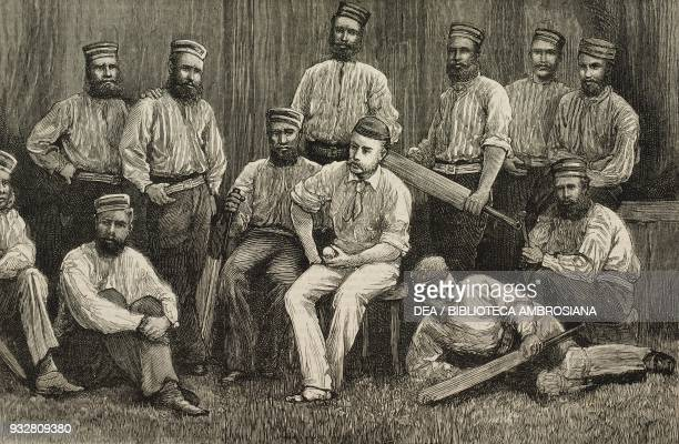 The New Norcia Aboriginal Team a team of indigenous Australian cricketers Western Australia illustration from the magazine The Graphic volume XIX no...