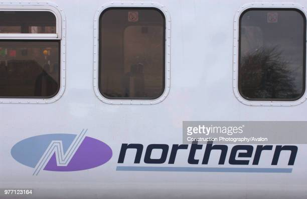 The new Northern Trains logo as displayed on a Class 156 Sprinter DMU trainset March 2005 United Kingdom