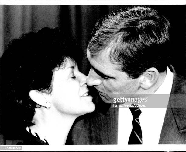 The new NSW Premier John Fahey with his wife Colleen today June 24 1992