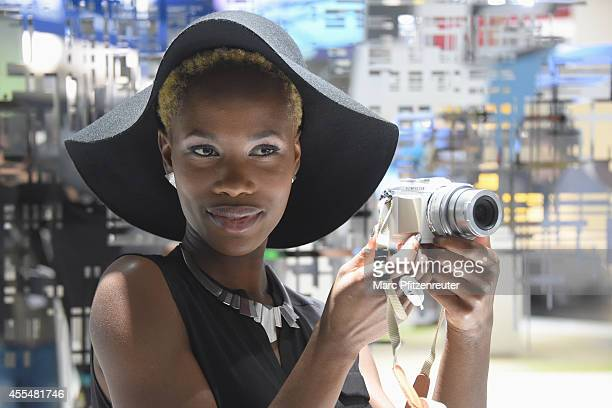 The new Olympus PEN EPL7 camera is presented at the Photokina 2014 trade fair on September 15 2014 in Cologne Germany Photokina is the world's...