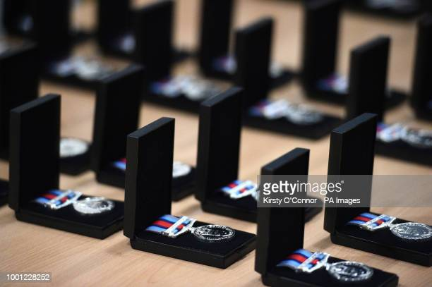 The new Operation Shader medals which were presented to servicemen and women who have contributed to the coalition fight against Daesh in Iraq and...