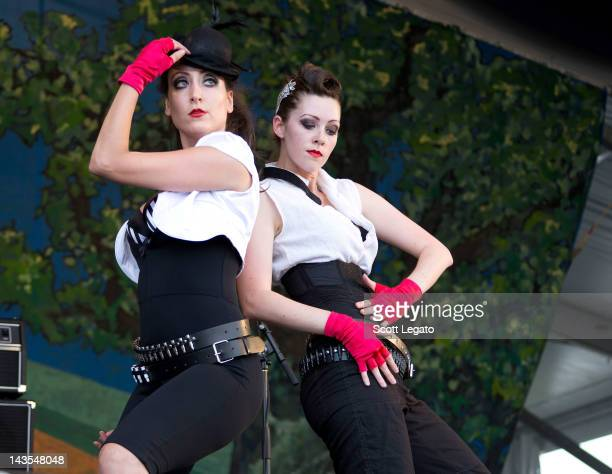 The New Orleans Bingo Show performs during the 2012 New Orleans Jazz & Heritage Festival at the Fair Grounds Race Course on April 28, 2012 in New...