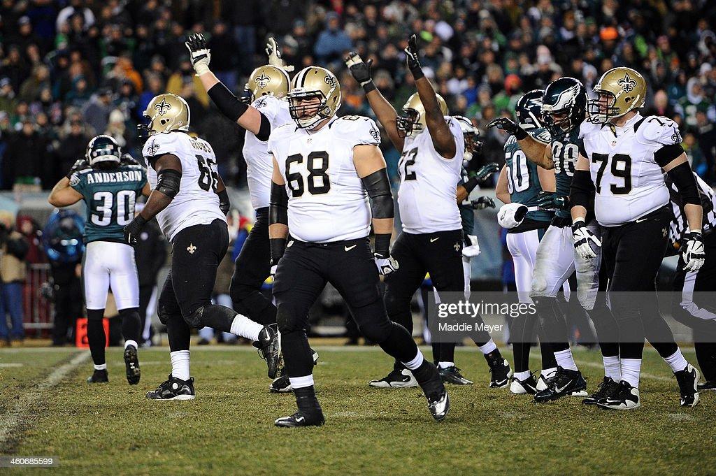 Wild Card Playoffs - New Orleans Saints v Philadelphia Eagles : News Photo