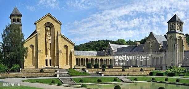The new Orval Abbey / Abbaye NotreDame d'Orval a Cistercian monastery founded in 1132 at VillersdevantOrval Florenville Belgian Ardennes Belgium