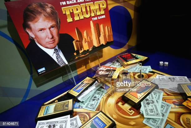 The new Parker Brothers board game Trump is displayed at the Toy Industry Association Toy Wishes Holiday Preview show October 5 2004 in New York City...
