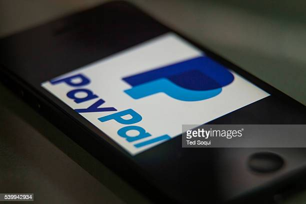 The new PayPal logo on a smartphone PayPal is an ecommerce company that transfers payments over the internet