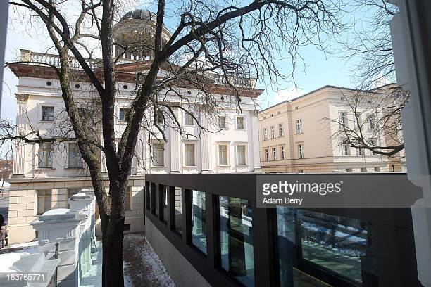 The new pedestrian tunnel linking the Kommandantenhaus the newlyadded building to the Berggruen Museum with the older West Sueler Building is seen on...