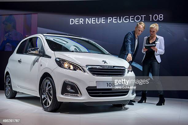 The new Peugeot 108 is seen at the 2014 AMI Auto Show on May 30 2014 in Leipzig Germany The show will be open to the public from May 31 through June...