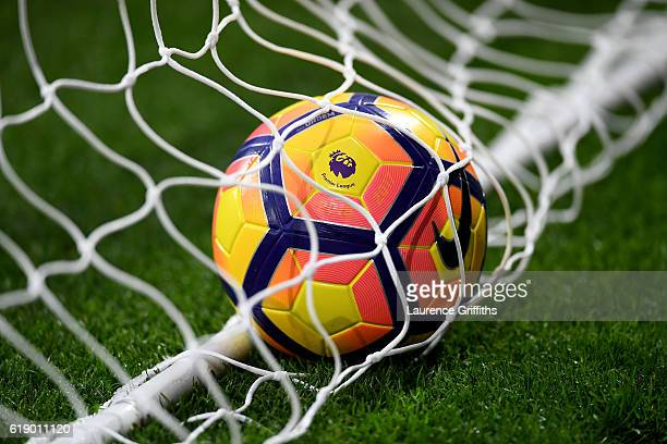 The new preimer leauge winter ball during the Premier League match between West Bromwich Albion and Manchester City at The Hawthorns on October 29...