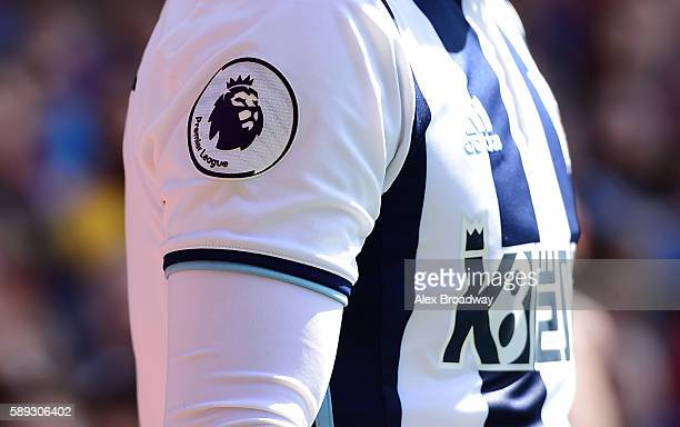 The new Premier League badge on a West Bromwich Albion players shirt during the Premier League match between Crystal Palace and West Bromwich Albion...