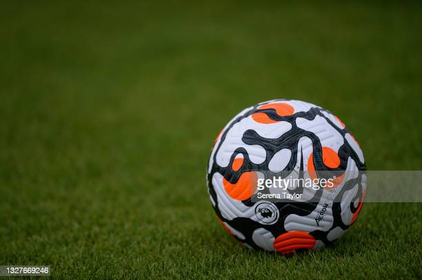 The New Premier League Training Ball during the Newcastle United Training session at the Newcastle Training Centre on July 08, 2021 in Newcastle upon...