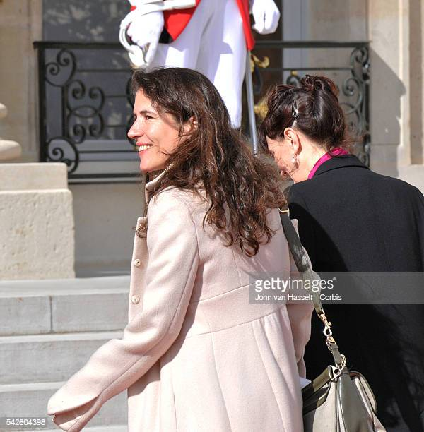 The new president of France Francois Hollande takes over the Elysee Palace from the outgoing President Nicolas Sarkozy in the official ceremony...