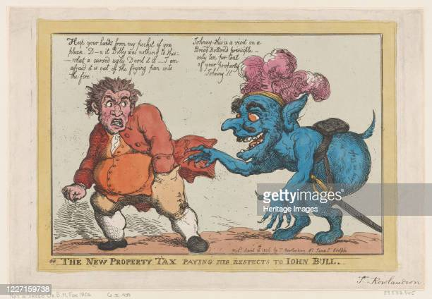The New Property Tax Paying His Respects To John Bull April 16 1806 Artist Thomas Rowlandson