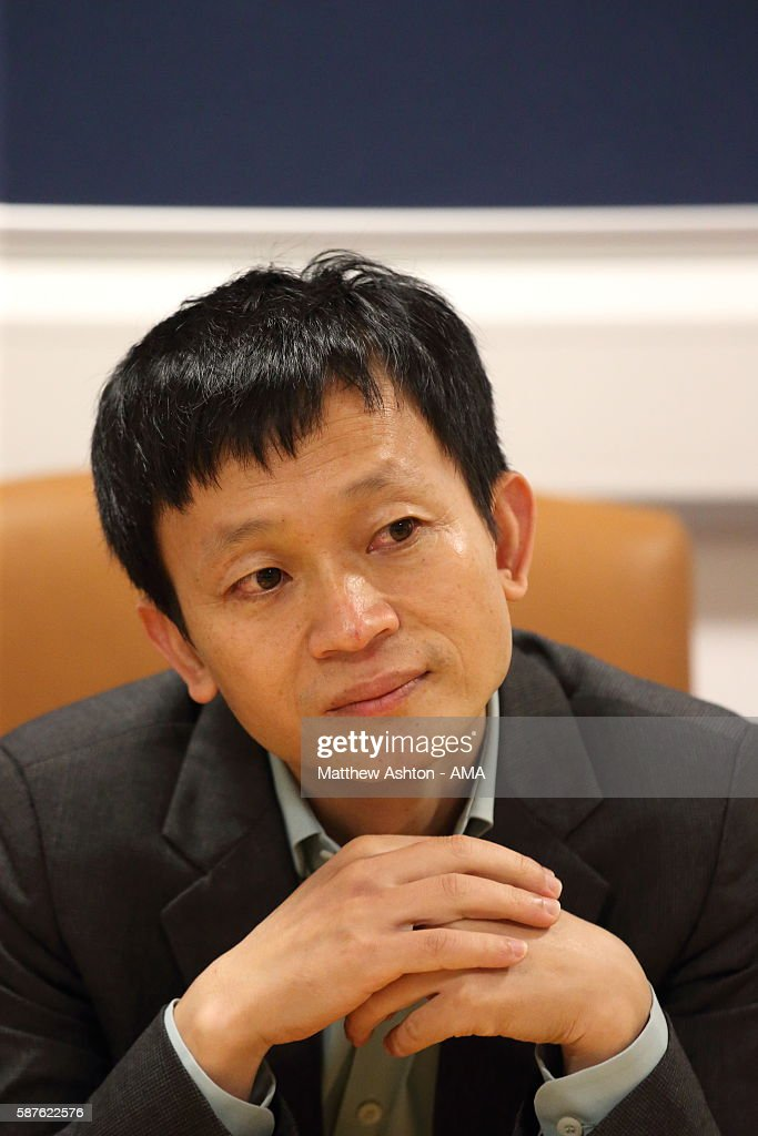The new prospective owner of West Bromwich Albion, Guochuan Lai from Yunyi Guokai (Shanghai) Sports Development Limited whilst on a tour of the club on August 8, 2016 in West Bromwich, England.