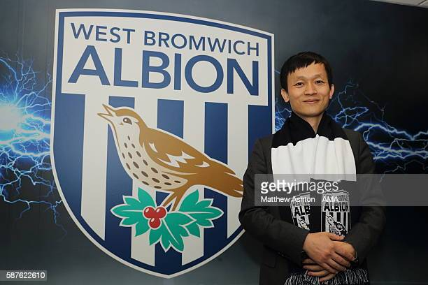 The new prospective owner of West Bromwich Albion Guochuan Lai from Yunyi Guokai Sports Development Limited whilst on a tour of the club on August 8...