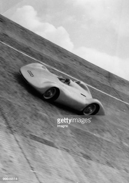 The new race car of the Auto Union on the Avus race track Germany Photograph Around 1930 Photo by Austrian Archives /Imagno/Getty Images