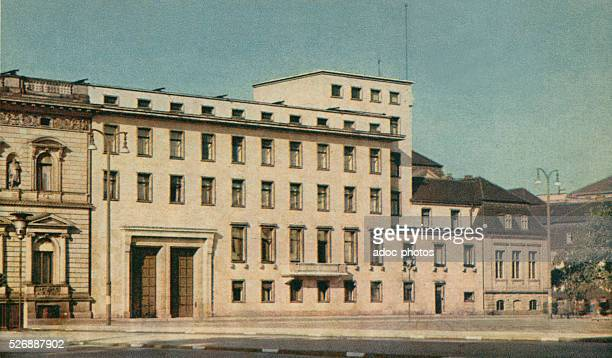The new Reich Chancellery on the side of Wilhelmplatz destroyed at the end of the war in Berlin In 1939