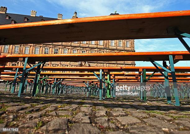The new residence and the Dom Place on June 11 2009 in Bamberg Germany Bamberg is listed as a World Heritage by UNESCO