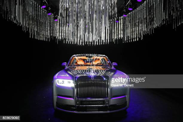 The new Rolls-Royce Phantom is unveiled at the world premiere of the 'The Great Eight Phantoms - A Rolls-Royce Exhibition' at Bonhams on July 27,...