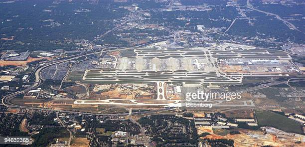 The new runway at HartsfieldJackson International Airport center foreground in Atlanta Georgia is seen in this aerial photo taken April 28 2006...