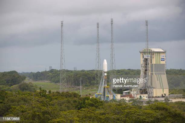 The new Russian Soyuz launch complex at the Guiana Space CenterThis launch complex is based on the same architecture as the other launch pads built...