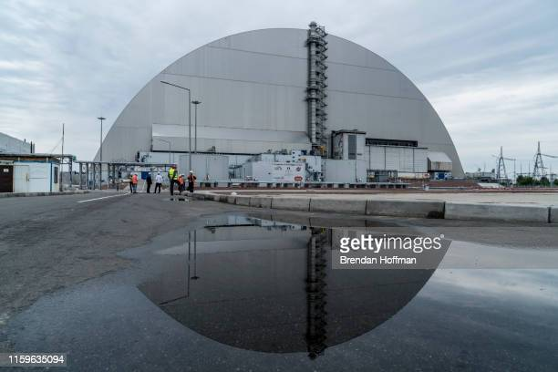 The 'New Safe Confinement' at the Chernobyl Nuclear Power Plant on July 2 2019 in Pripyat Ukraine In November 2016 the 'New Safe Confinement'...