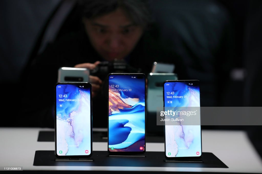 Samsung Hosts Annual Galaxy Unpacked Event Unveiling New Devices Including S10 Smartphone : News Photo