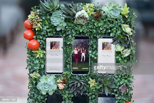 The new Samsung Galaxy S8 on display at the Samsung Women in Country x Change The Conversation Dinner on June 8 2017 at Henrietta Red in Nashville...