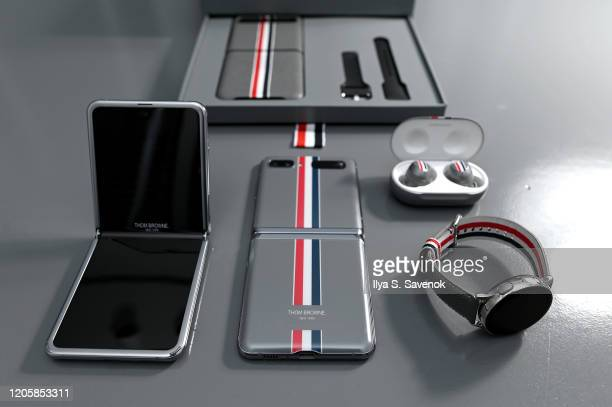 The new Samsung Galaxy Z Flip Thom Browne Edition package also includes custom designed Galaxy Buds+ and Galaxy Watch Active2 featuring the...