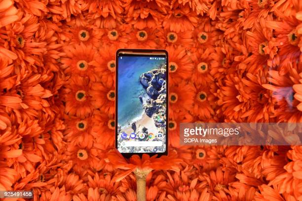 The new Samsung S9 mobile phone seen at the Mobile World Congress The Mobile World Congress 2018 is being hosted in Barcelona from 26 February to 1st...