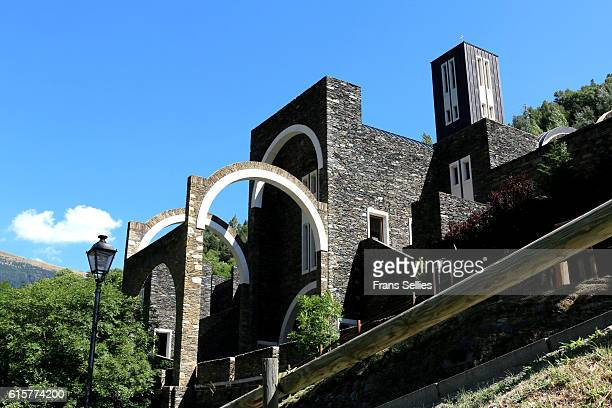 The new sanctuary of Our Lady of Meritxell, Andorra