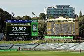 adelaide australia new scoreboard is pictured
